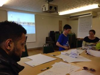 Working with athletes at Leicestershire FA's Inclusive Football Programme to create digital stories.