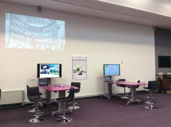 Installation of Digital Story project at QRSE2014.